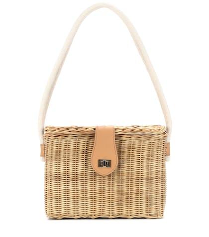 Mia straw shoulder bag