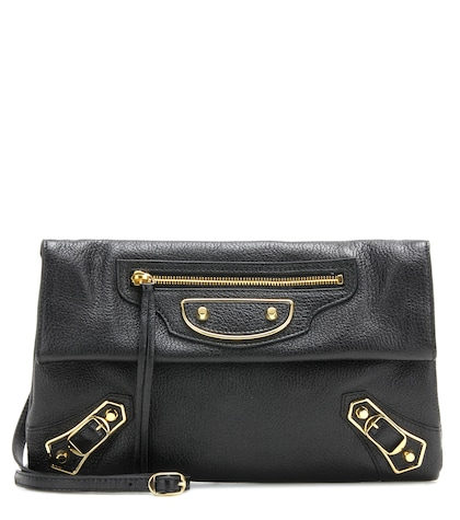 Classic Metallic Edge Envelope Strap crossbody bag