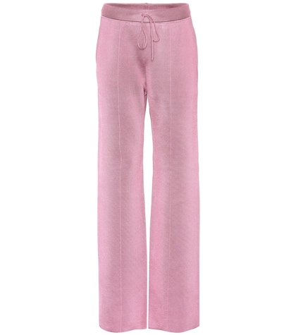 Wool and silk-blend trousers