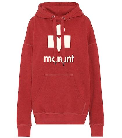 Mansel printed cotton hoodie