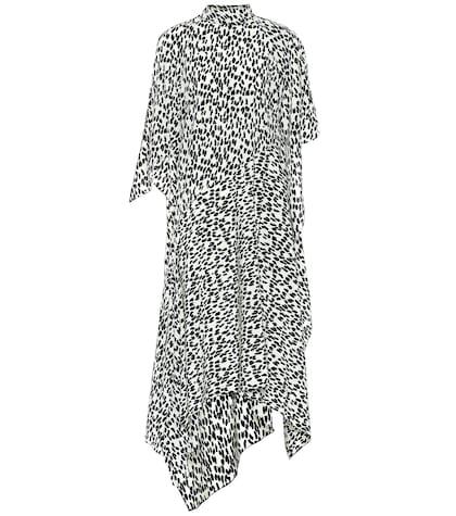 Robe midi Dorine en soie imprimée