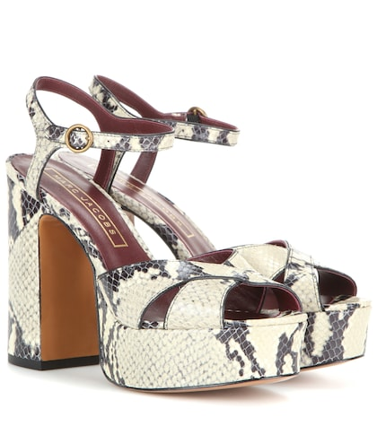 marc jacobs female debbie embossed leather platform sandals