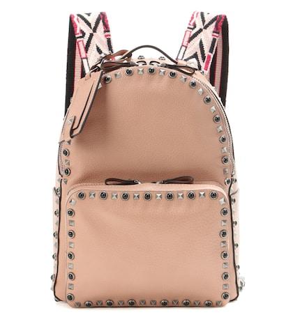 Rockstud Rolling Medium Leather Backpack