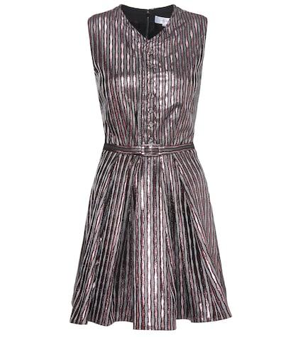 Metallic striped dress