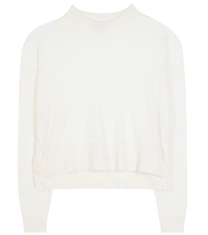 acne studios female ryssa alpaca and wool cropped sweater