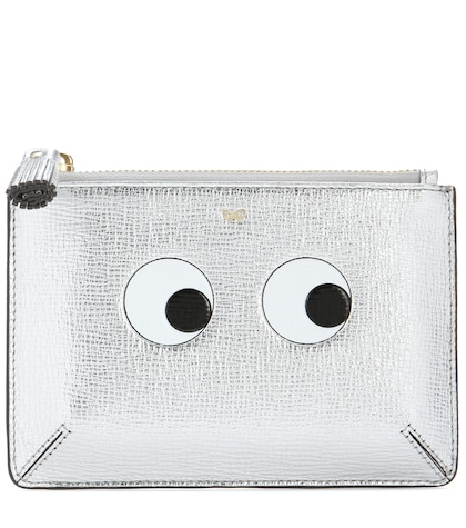 anya hindmarch female loose pocket small printed leather pouch