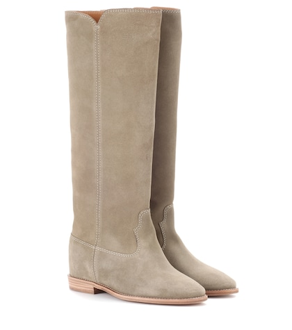 Cleave concealed-wedge suede boots