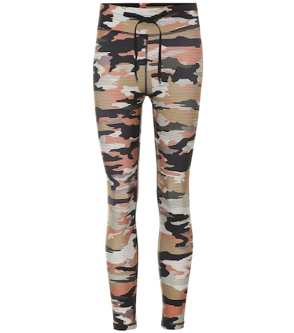 Camouflage-printed leggings