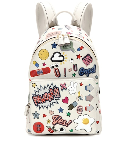 anya hindmarch female all over wink mini leather backpack
