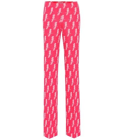 Pantalon en coton imprimé
