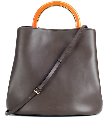 Pannier leather handbag