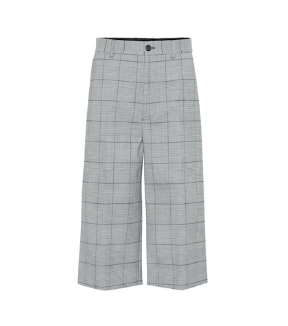 High-rise plaid culottes