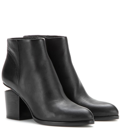 alexander wang female gabi leather ankle boots