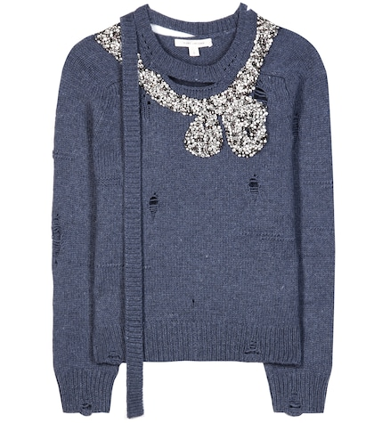 marc jacobs female embellished wool and cashmere sweater