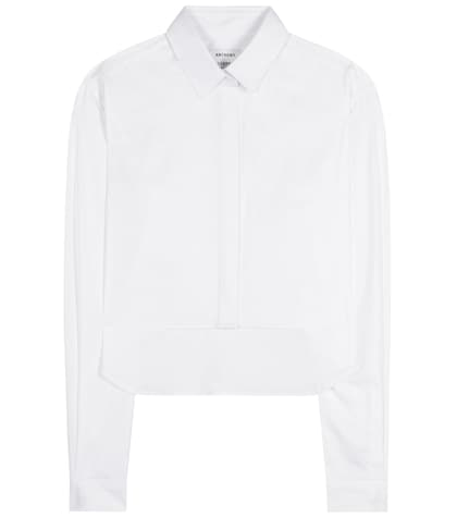 anthony vaccarello female 45883 cropped cotton shirt