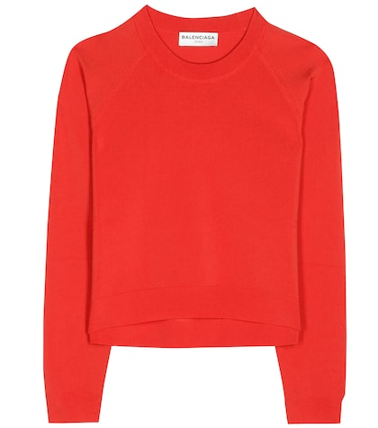 balenciaga female cropped sweater