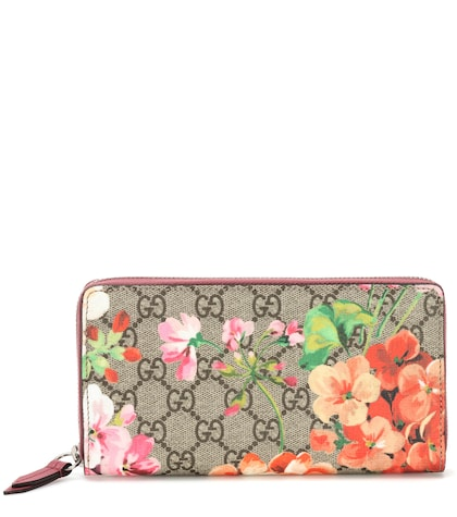 Blooms GG Supreme coated-canvas wallet