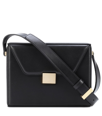 Vanity leather crossbody bag