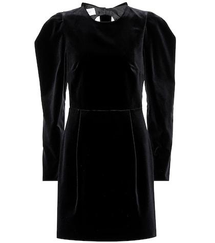 Bow back velvet dress