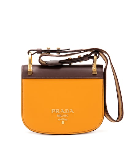 prada female pionniere leather shoulder bag