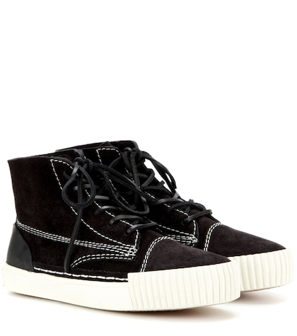 alexander wang female perry suede hightop sneakers