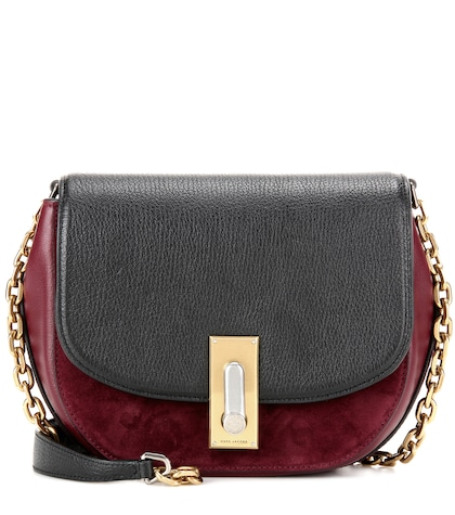 marc jacobs female west end jane leather and suede crossbody bag