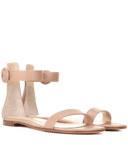 gianvito rossi female exclusive to mytheresacom portofino flat leather sandals