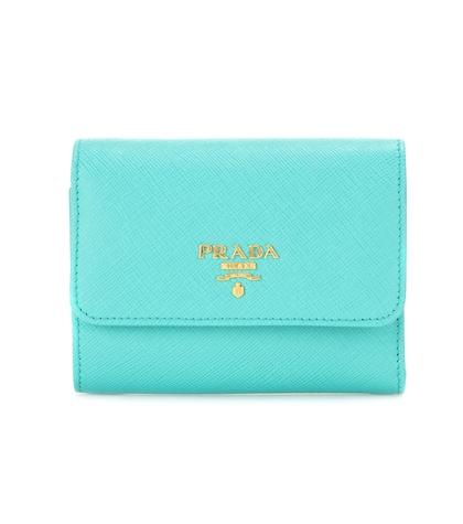 prada female leather wallet