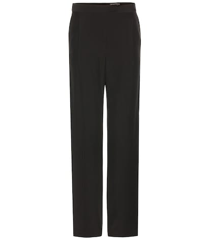 alexander mcqueen female crepe trousers