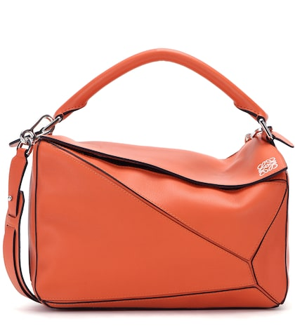 Puzzle leather bag
