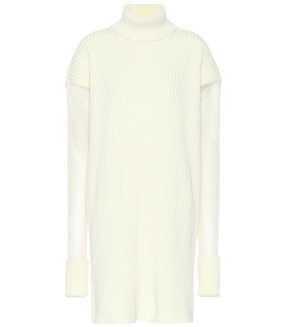 Wool-blend sweater dress