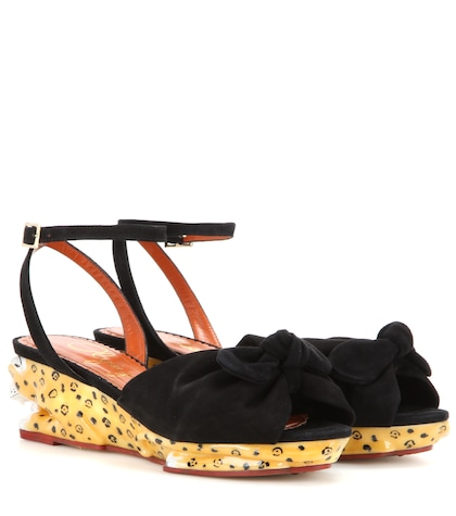 Panthera Suede Wedge Sandals