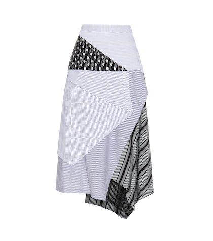 jw anderson female striped cotton skirt