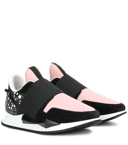 givenchy female runner elastic suedetrimmed sneakers