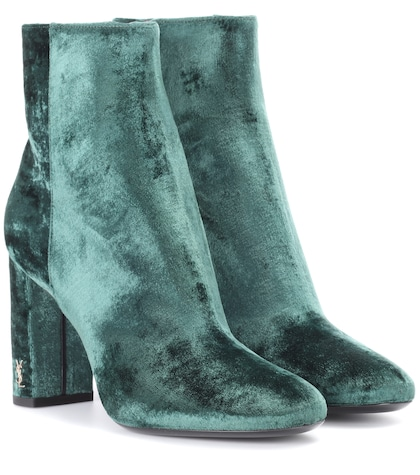Loulou 95 velvet ankle boots