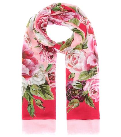 Floral-printed scarf