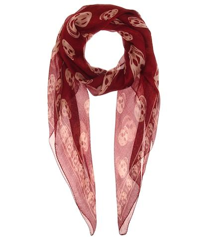alexander mcqueen female 250960 printed silk scarf