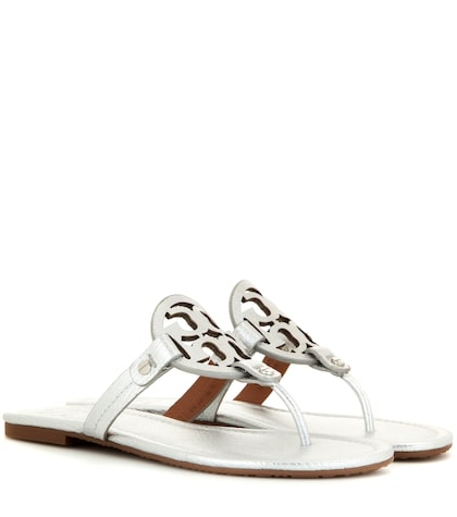 tory burch female miller metallic leather sandals