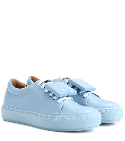 acne studios female adriana turnup leather sneakers