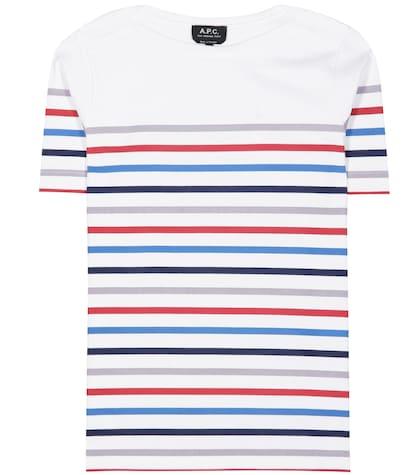 apc female striped cotton tshirt