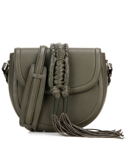 Ghianda Knot Saddle leather shoulder bag