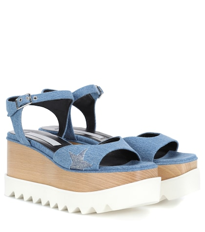 Elyse platform denim sandals