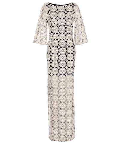 alice olivia female kellyann embroidered dress
