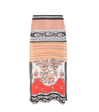 etro female knitted jacquard skirt