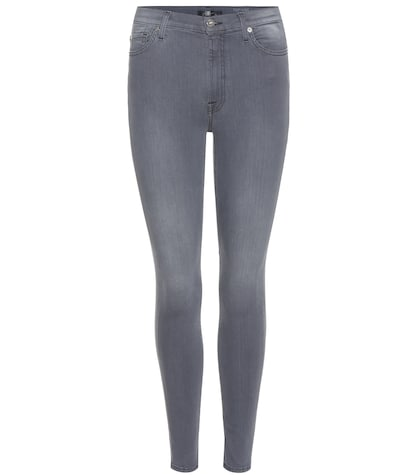 7 for all mankind female highwaisted cropped skinny jeans