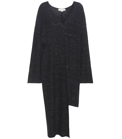 Virgin wool-blend sweater dress