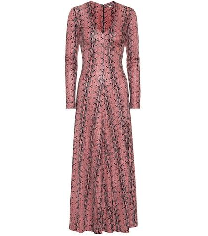 Snake-printed dress