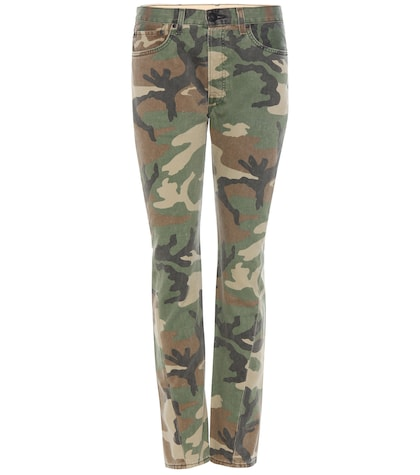 Camouflage printed jeans