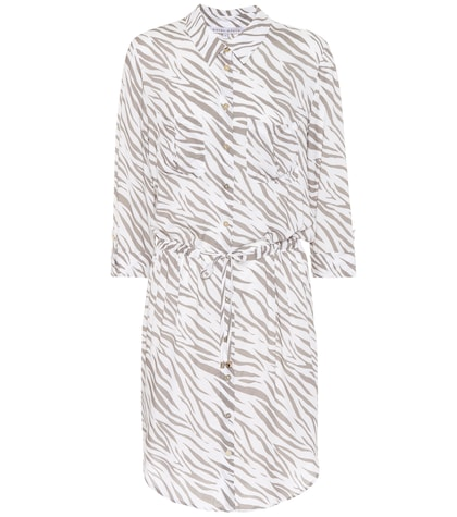 Zebra printed shirt-dress