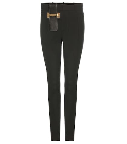 anthony vaccarello female skinny wool trousers